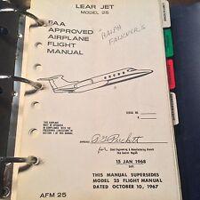 Gates Learjet Model 25 Airplane Flight Manual