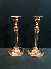 Paire de bougeoirs en bronze doré, époque Empire, Claude Galle