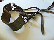 Anciennes lanières cuir  harnais cheval ou ane