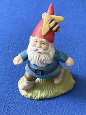 "Vintage 1979 Enesco Gnome Gnomes Figure w/ Bee 3 1/2"" Tall"