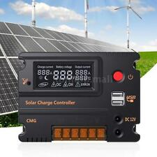 20A Charge Intelligent Controller Auto 12V/24V PWM LCD Solar Panel Battery A1B0