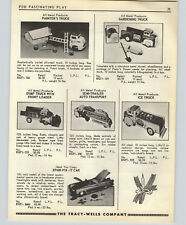 1955 PAPER AD Wyandotte All Metal Products Toys Ice Truck Ideal Corvette Chevy