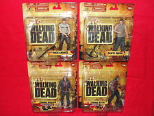 The Walking Dead series one Set of 4 Rick Grimes Daryl Dixon Zombie Walker Biter