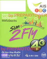 Ais Data Sim Card 8 Days 4Gb 4G 3G Unlimited Data Philippines Malaysia Myanmar
