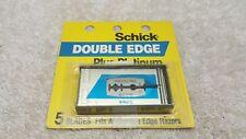 NOS Vintage Schick Plus Platinum Double Edge Safety Razor Blade Dispenser Teflon