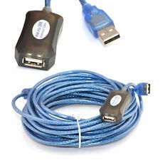 CABLE ALARGADOR USB ACTIVO PARA WIFI MACHO HEMBRA 10 METROS AMPLIFICADO