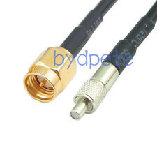 SMA male plug to TS9 female jack adapter RF Antenna Coax Cable 25 cm 10in RG174