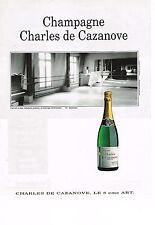 PUBLICITE ADVERTISING 084  1990  CHARLES DE CAZENEUVE  champagne