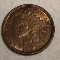1907 Indian Head Penny Full LIBERTY And Four Diamonds! Vintage Century+ Old Coin