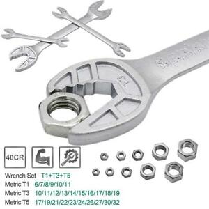 New V-Power Multi-Wrench, Adjustable Combination Pipe Hex Key Ratchet Wrench set