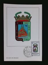 SPAIN MK 1964 ESCUDO MALAGA WAPPEN BLAZON MAXIMUMKARTE MAXIMUM CARD MC CM c5594