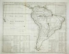 New ListingSouth America Brazil Argentina Chile map Karte Kupferstich engraving Chatelain