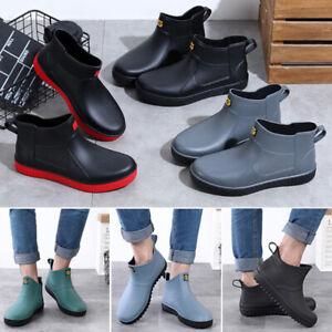Mens Womens Wellington Rain Boots Ankle Wellies Outdoor Waterproof Shoes Size UK