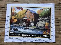 2014 US EXPRESS MAIL , Glade Creek Grist Mill $5.75 USED ON PAPER ,SCOTT#4927