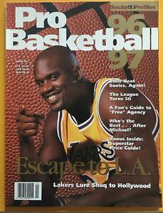 1996-97 Beckett Profiles Pro Basketball Shaquille O'Neal Lakers Magazine SHAQ