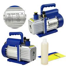 3.5CFM Rotary Vane Vacuum Pump Single Stage HVAC 1/4HP Air Conditioning A/C Deep