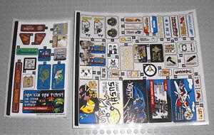 LEGO 70657 Ninjago City Hafen - STICKER / AUFKLEBER - Docks Decals Stickerbogen
