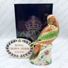 #Royal Crown Derby Lorikeet Bird Paperweight Ltd Edition - Boxed - Gold Stopper