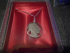 1925 Cut Indian Head Nickel SS Necklace