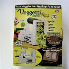 New Vegetti Pro Spiral Cut Vegetables Fruit Table Top Kitchen Slicing Miracle