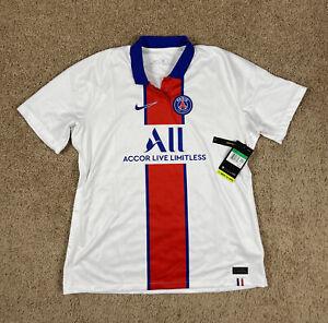 NEW Sz XL Women's Nike PSG Paris Saint-Germain 2020-21 Away Soccer Jersey White