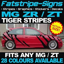 MG ZR ZT TIGER STRIPES CAR VINYL GRAPHICS DECALS STICKERS ROVER XPOWER ROVER 1.6