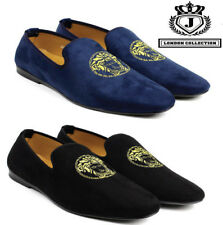 Mens Black Navy Slip On Designer Loafers Driving Shoes Casual Moccasin Size UK