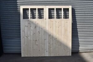 Wooden Garage Doors Heavy Duty Frame, Ledge & Braced 6 Pane