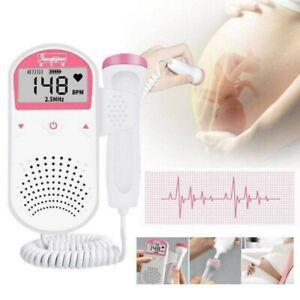 Handheld Fetal Doppler Prenatal Baby Heart Rate Doppler Heartbeat Monitor LCD