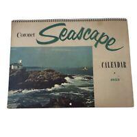 """1953 Coronet Seascape Calendar Famous Marine Pictures Sailing Ships 14x10"""""""