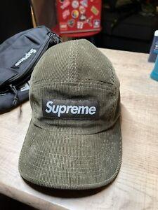 Supreme Fine Wale Corduroy Camp Cap Hat Black SS21 Supreme New York 2021 New DS