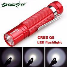 7W CREE Q5 LED 1200LM Mini Flashlight Torch Light Waterproof Portable Bright