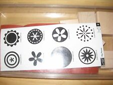 "Stampin' Up! ""Big Pieces"" Set Wood Mounted Rubber Stamps, New Unmounted 2006"