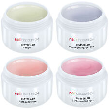 UV Gel Spar Pack Set 4x5ml Allround +HaftGel +AufbauGel rosa +Finish Versiegler