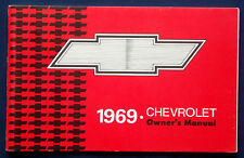 Owner's Manual * Betriebsanleitung 1969 Chevrolet Caprice / Impala (USA)