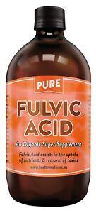 Pure Fulvic Acid 100%....The  Organic Super Supplement.... 500ml Pet bottle