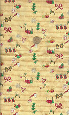 "Cute! Christmas Cotton Fabric - Leslie Beck - Btfq - 18""X22"""