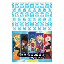 BEYBLADE BURST PLASTIC TABLE COVER ~ Birthday Party Supplies Cloth Decoration