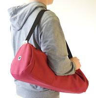 "Yoga Mat Bag natural cotton Large - 7"" round x 27"" long  CLEARANCE made USA"