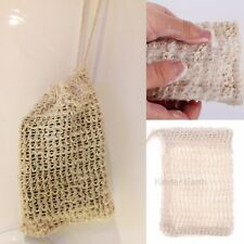 Sisal Soap Saver Pouch Shower Bath Soap Saver Holder Bags with Drawstring