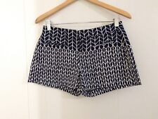 Gap Shorts Womens Size 0 Geometric Print Navy White Printed Canvas