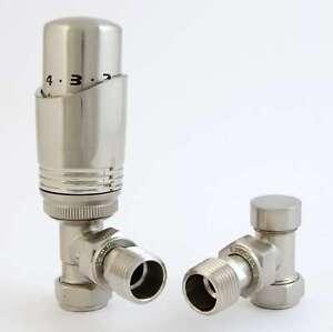 Brushed Nickel Thermostatic Radiator valve sets Fantastic quality