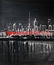 "20x24""Hand Painted Oil Flat.Impressionist Painting, Impressionism, City, Street"