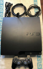 Sony PlayStation 3 Slim 160GB Charcoal Black Home Console. Excellent Condition