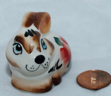 Easter Bunny Rabbit Collectible Gzhel style Porcelain Figurine gift hand-painted