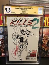 Deadpool Kills the Marvel Universe #2 CGC SS 9.8 NM/MT SIgned Campbell Sketch