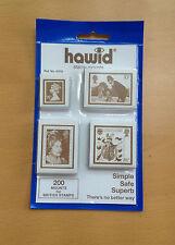 Hawid stamp mounts (4 packs) 200 mounts
