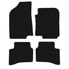 Kia Rio 2011 - Onwards Black Floor Rubber Fully Tailored Car Mats 3mm 4pc Set