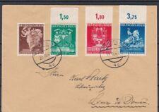 Satzbrief Wiener Frühjahrsmesse auf Brief tlw. mit Oberrand gel. 1941