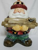 Sakura Debbie Mumm's Woodland Santa Cookie Jar Vintage 1998 Excellent Condition